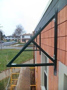 Close up of awning frame