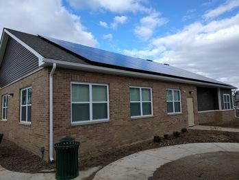 The final solar installation