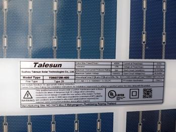 Back of solar panel