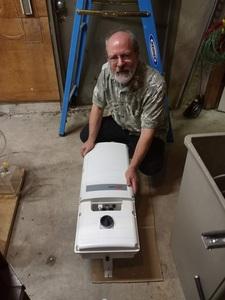 SolarEdge inverter ready to install