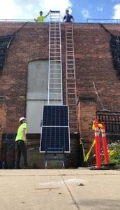 Solar panel elevator