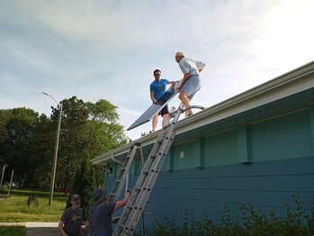 Moving solar panels to the roof