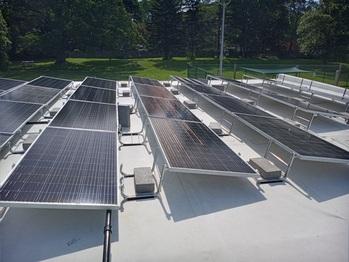 Panels assembled on East roof