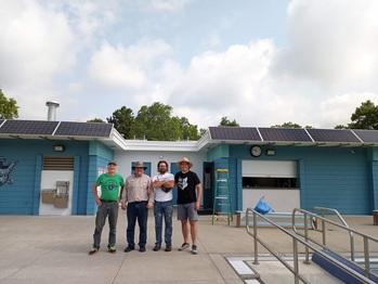Finished solar awning