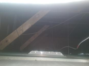 Internal bracing for solar awning