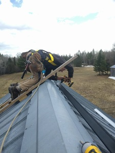 Attaching the rails to the roof