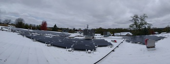 Panarama of the full solar array