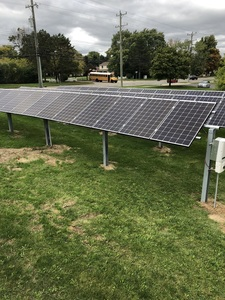 The finished solar project