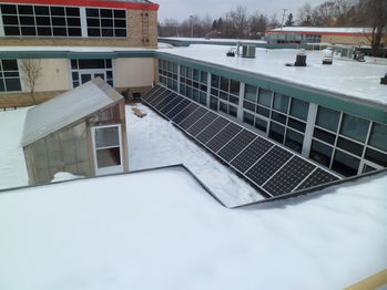 Solar panels from the roof