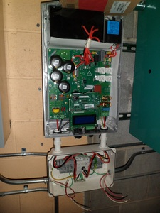 Inverter being wired