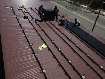 Expansion: Installing the first row of panels