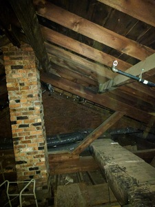 Looking SouthEast in the attic
